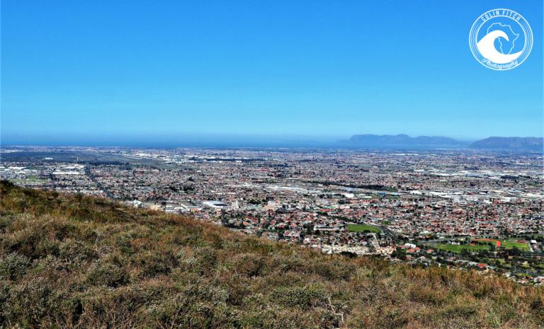 A view towards False Bay, Cape Town.