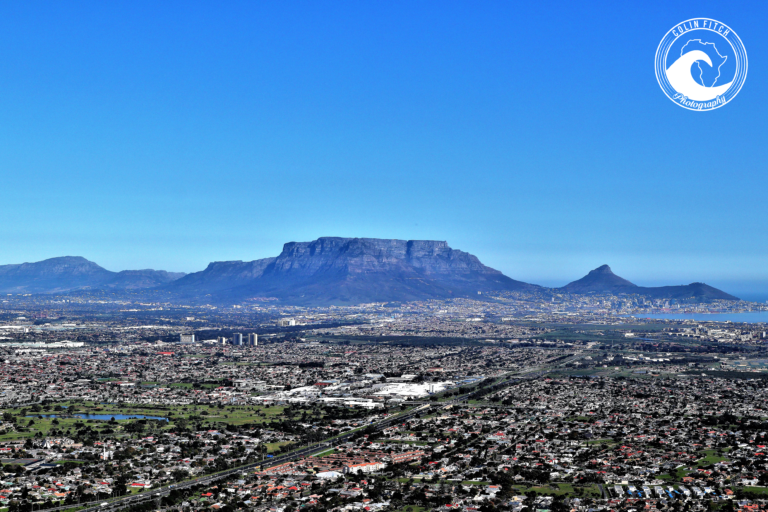 From Table Bay to False Bay and all the Cape Flats in between.