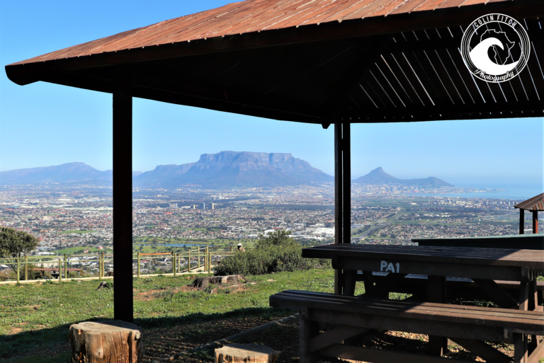 The picnic area on top of Tygerberg Nature Reserve. One of the best views in the world.