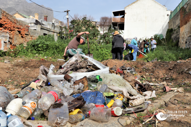 Plastic Waste taken out the Bo-Kaap Community Project.