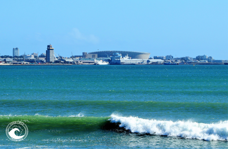 Wave and Cape Town Stadium from Milnerton.