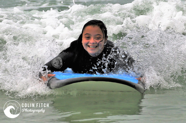 Shazeem Scott. The wonderful young lady behind the foundation and a avid surfer.